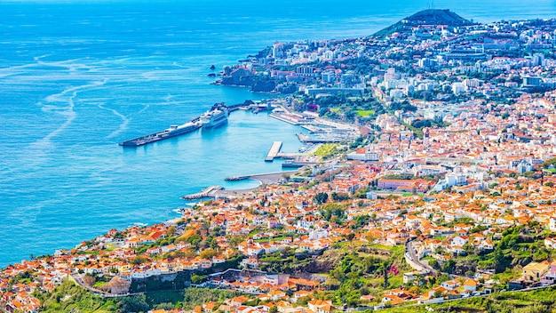Stolica madery - miasto funchal, portugalia.