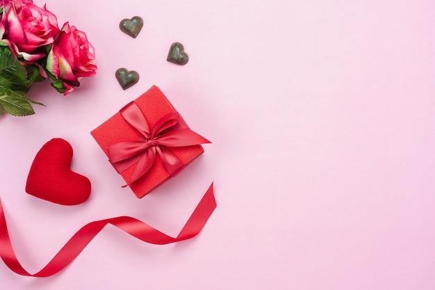 Stołowego widoku anteny wizerunek dekoracja valentine dnia tło.