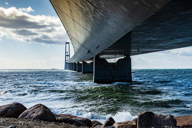 Storebaeltsbroen most nad morzem, dania