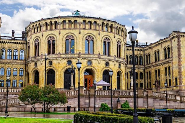 Stortinget, budynek parlamentu w oslo, norwegia