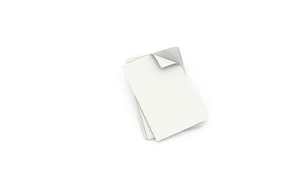 Stos białych pustych arkuszy papieru