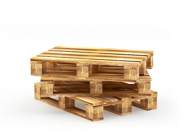 Stos brązowych drewnianych palet