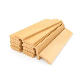 Stos drewnianych desek konstrukcyjnych lub desek drewnianych
