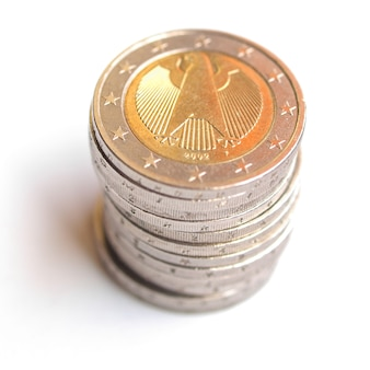 Stos dwóch monet euro