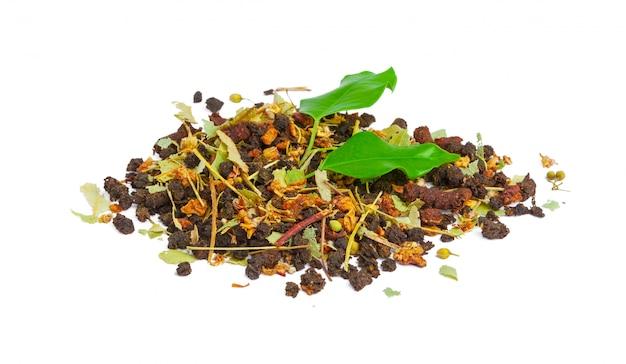Stos hrabia popielata czarna herbata odizolowywająca