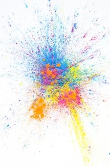 Stos kolorowych jaskrawych suchych kolorów