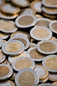 Stos monet euro