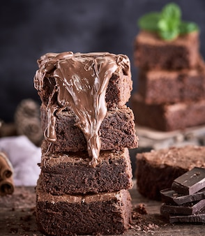 Stos placek placek brownie