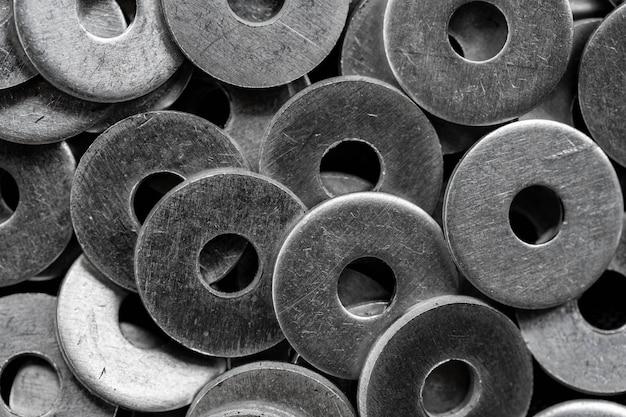 Stos podkładek ze stali nierdzewnej, wyposażenie do budowy