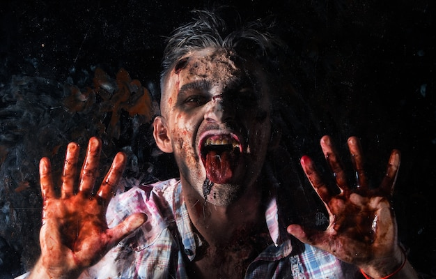 Straszny kostium zombie cosplay