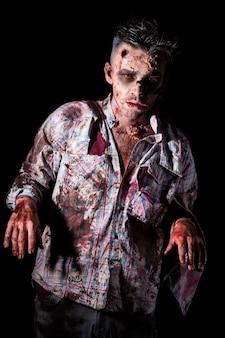Straszny zombie cosplay