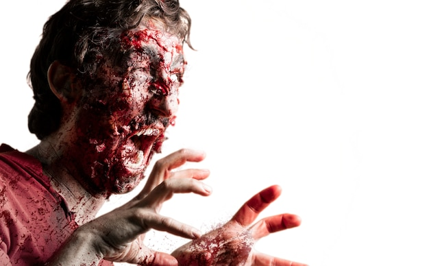 Straszny zombie