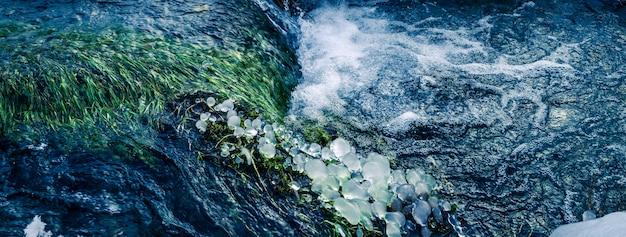 Stream w górach alpejskich, francja, europa