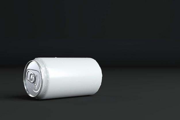 Streszczenie aluminiowa prezentacja puszki z miejscem na kopię