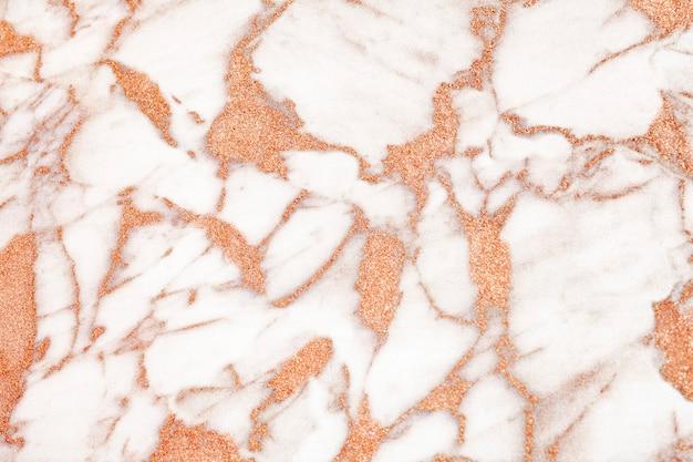 Streszczenie białe i pomarańczowe marmurowe teksturowane tło