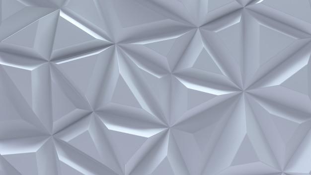 Streszczenie białe tło 3d z geometrycznymi losowymi trójkątami