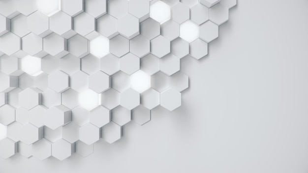 Streszczenie biały geometryczny plaster miodu sześciokątny