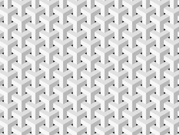 Streszczenie biały wzór kostki