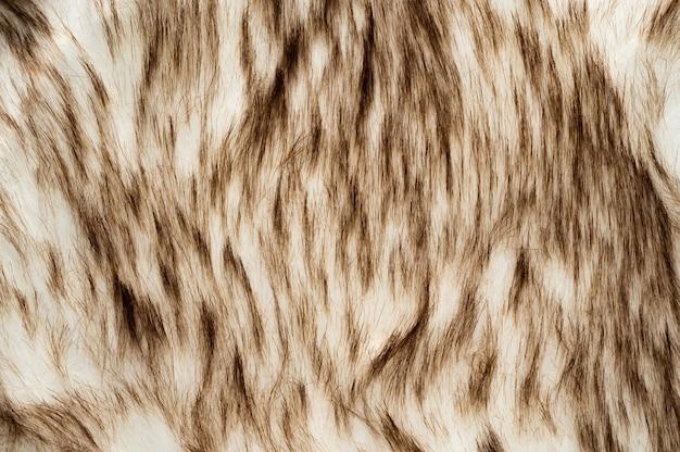Streszczenie biały z brązowym futrem tekstury tła