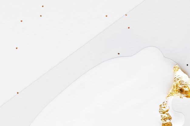 Streszczenie biały z tłem złoty brokat