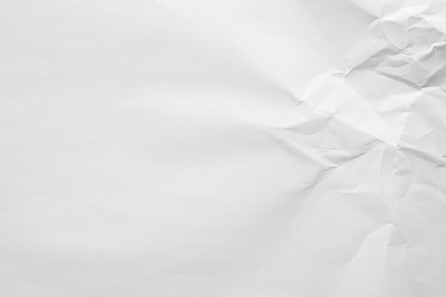 Streszczenie biały zmięty papier tekstura tło