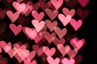 Streszczenie bokeh w kształcie serca