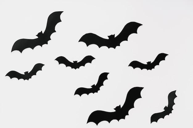 Streszczenie ciemne nietoperze na halloween