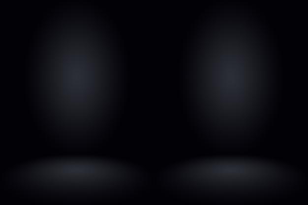 Streszczenie ciemnoszary szablon pusta przestrzeń ciemna ściana gradientu. ciemnoszary pusty pokój studio gradientu używany do montażu lub wyświetlania produktów.