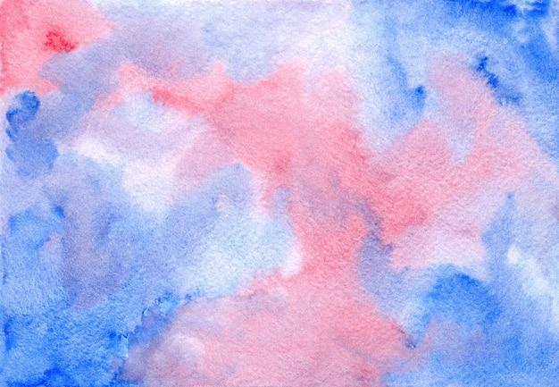 Streszczenie ciemny akwarela różowy i niebieski cloudscape mokre tło akwarela