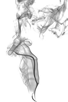 Streszczenie ciemny dym na jasnym tle