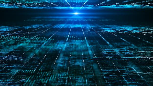 Streszczenie cyfrowy matrycy tła. futurystyczna koncepcja technologii informacji dużych danych.