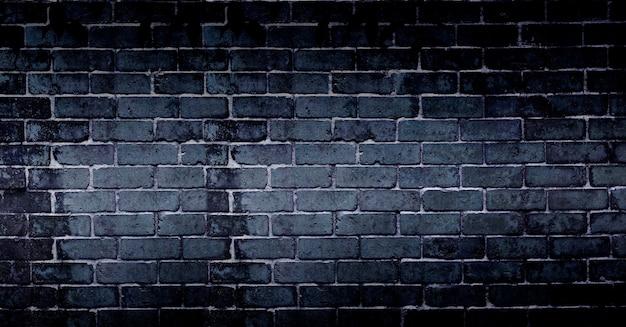 Streszczenie czarne tło ceglanego muru