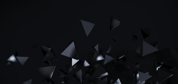 Streszczenie czarne tło geometryczne