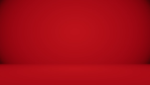 Streszczenie czerwone tło boże narodzenie projekt układu walentynki, studio, pokój, szablon sieci web, raport biznesowy z kolorem gradientu gładkiego koła.