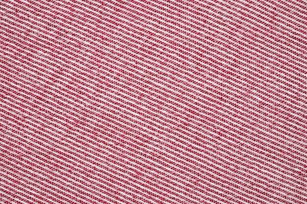 Streszczenie czerwony i biały pasek odzieży tkaniny tekstura tło wzór