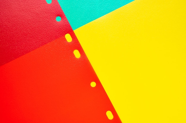 Streszczenie czerwony żółty i niebieski geometria papieru tekstury tła