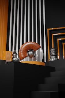 Streszczenie drewna szkła i składu metalu