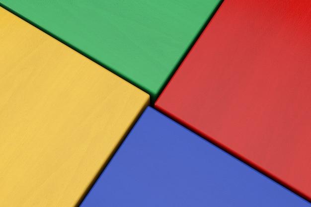 Streszczenie drewniane kostki wielokolorowe tło bloku ekstremalne zbliżenie. renderowanie 3d