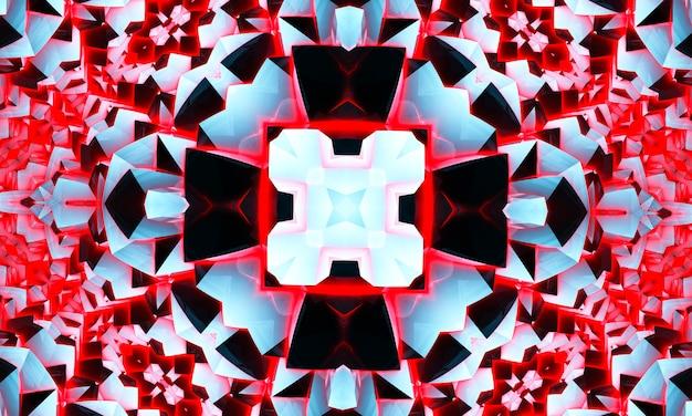 Streszczenie fajny krzyż kalejdoskop motyw x, super rozdzielczość dla twojego projektu