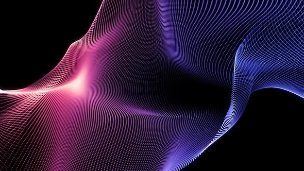 Streszczenie fala niebieski i różowy. nowoczesne tło