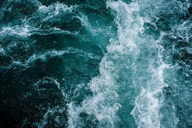 Streszczenie fale wody oceanu tekstura tło.