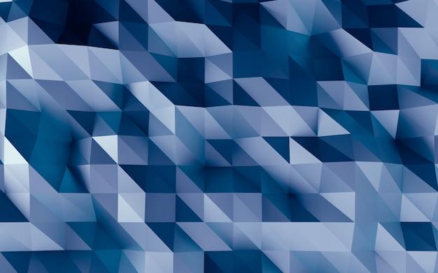 Streszczenie fasetowane geometryczne niebieskie tło