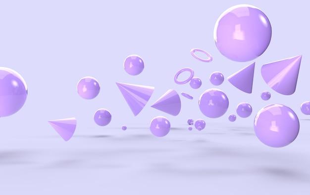 Streszczenie fioletowe kształty geometryczne tło