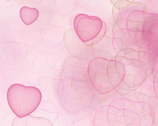 Streszczenie fraktalna tło wygenerowane komputerowo ilustracji 2d, serce, miłość