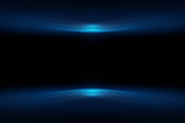 Streszczenie futurystycznej technologii cyber przestrzeni niebieskiej fali renderowania 3d