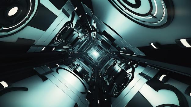 Streszczenie futurystyczny tunel
