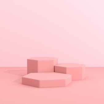 Streszczenie geometrii makiety podium w minimalistycznym stylu.