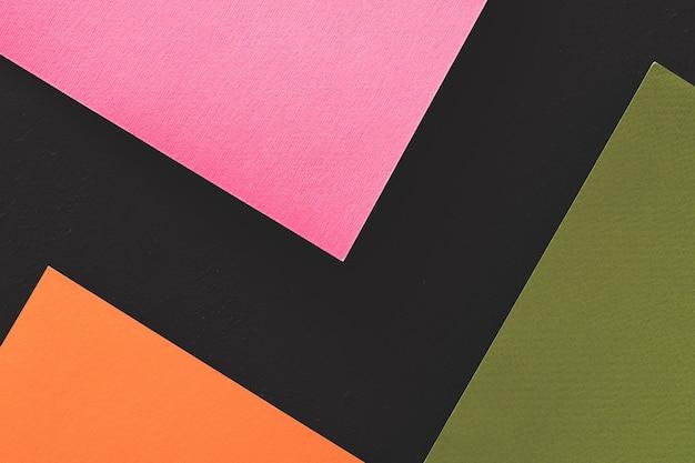 Streszczenie geometryczny papier. kolorowe prześcieradła na czarno