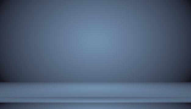 Streszczenie gładki ciemnoniebieski z czarną winietą studio dobrze wykorzysta jako tłoraport biznesowydigitalweb...