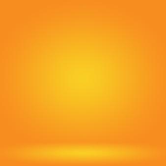 Streszczenie gładki projekt układu pomarańczowego tła, studio, pokój, szablon strony internetowej, raport biznesowy z kolorem gradientu gładkiego okręgu